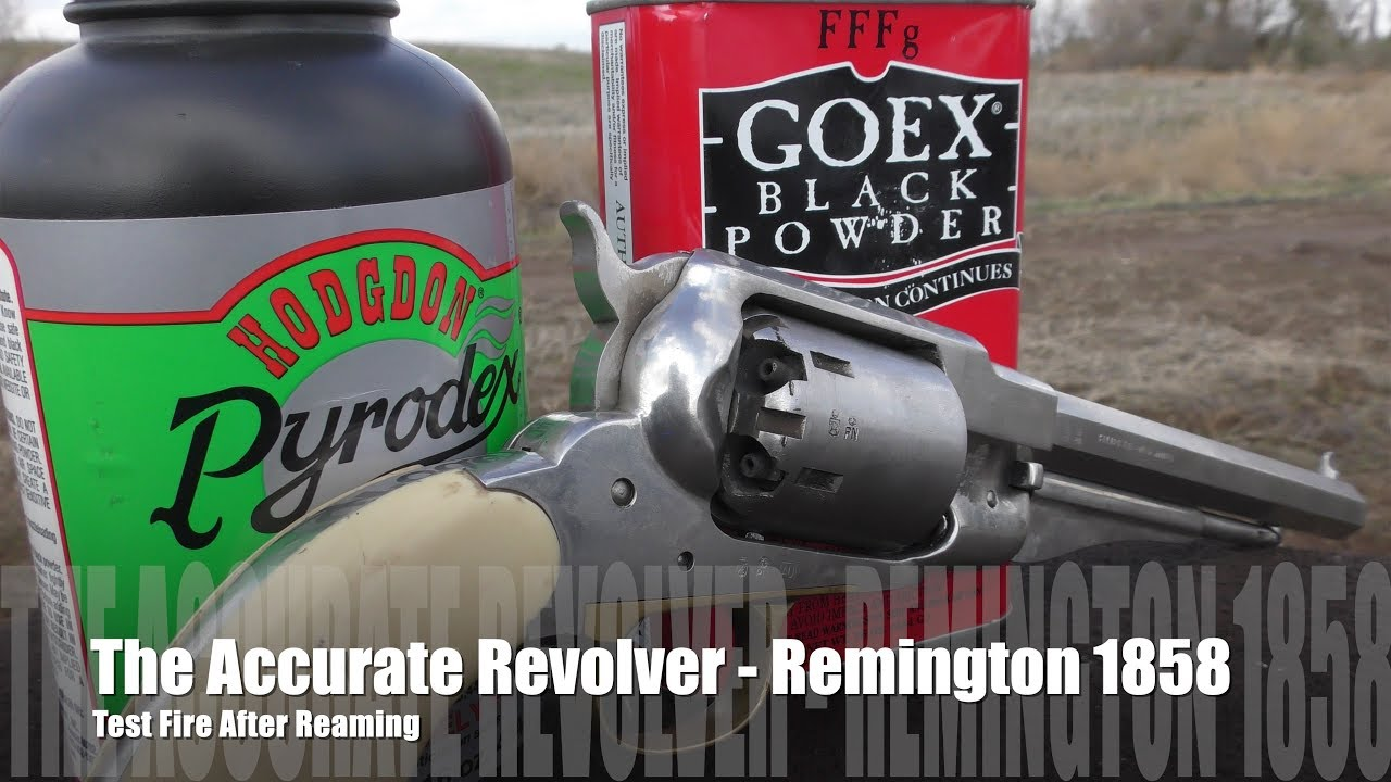 The Accurate Revolver - Remington 1858 Shoot!