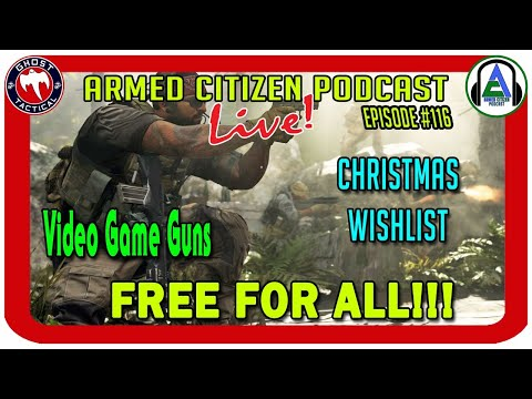 FREE FOR ALL:  GLOCK 44, The Gundies, Christmas Wishlists:  The Armed Citizen Podcast LIVE #116