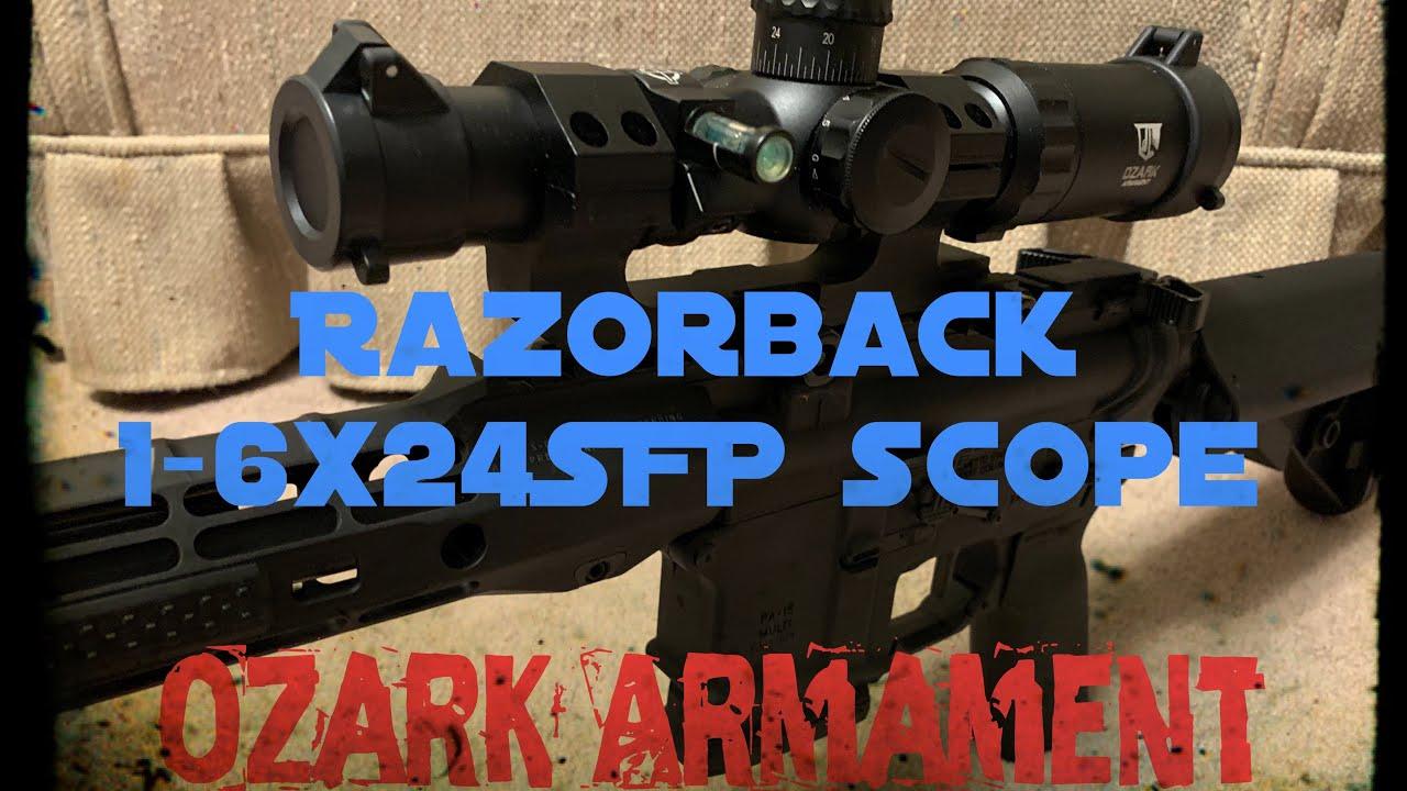 Razorback 1-6x24SFP Rifle Scope | Ozark Armament