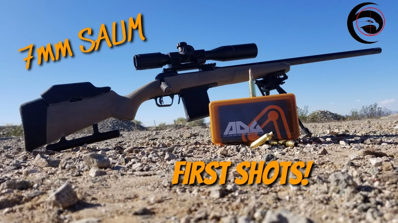 7mm SAUM Savage 110 First Shots!! | Savage 110 ELR build
