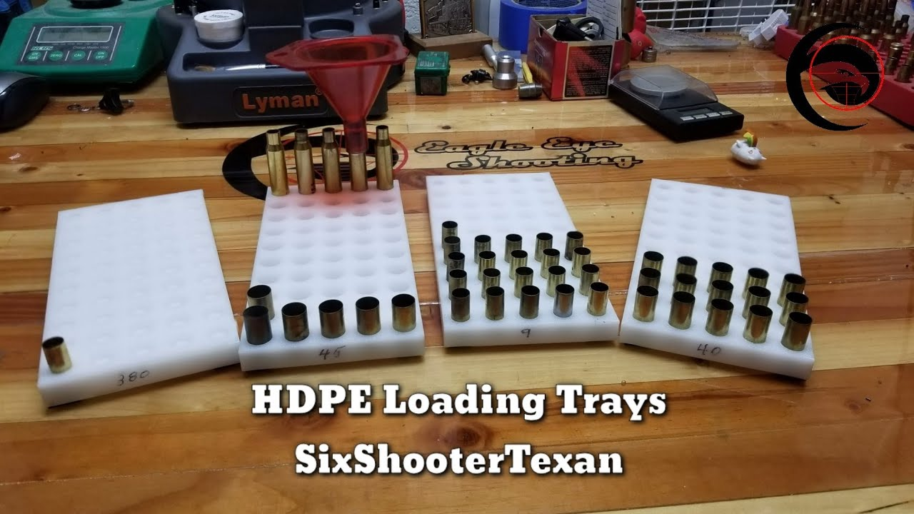 Loading Trays Precision CNC  | Caliber Specific HDPE from SixShooterTexan