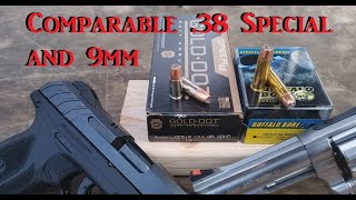 Comparable .38 Special and 9mm