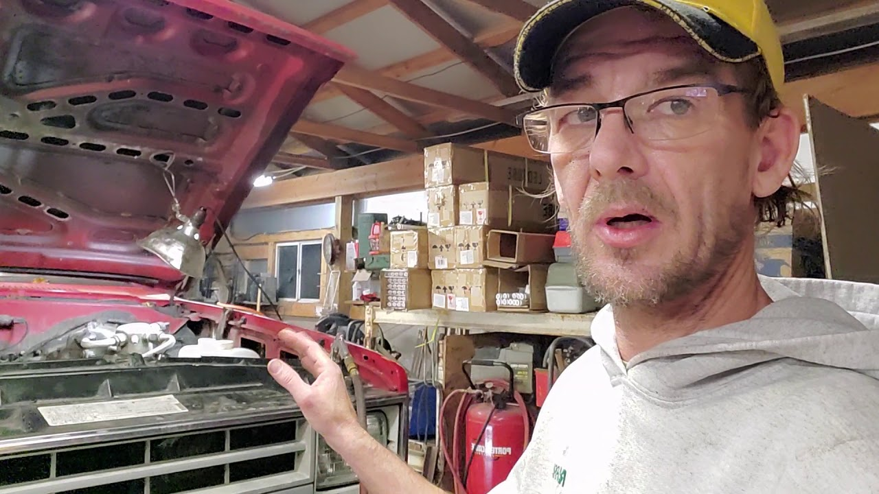 In the shop fixing BIG RED . update and info on my shoulder surgery