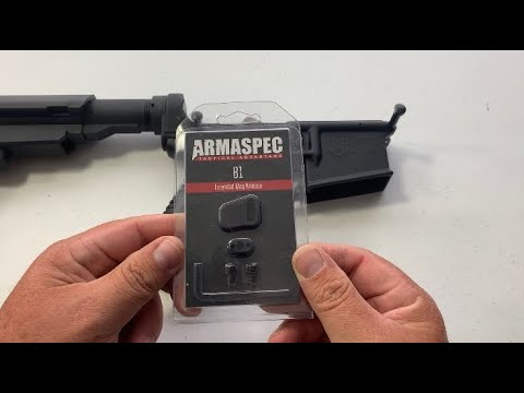 Armaspec extended mag release