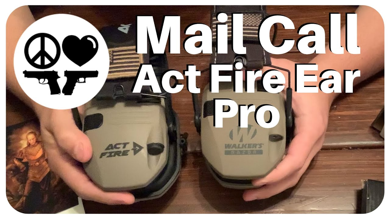 🔥Act Fire Electronic Ear Pro and Mission First Tactical Minimalist Holster MAIL Call!