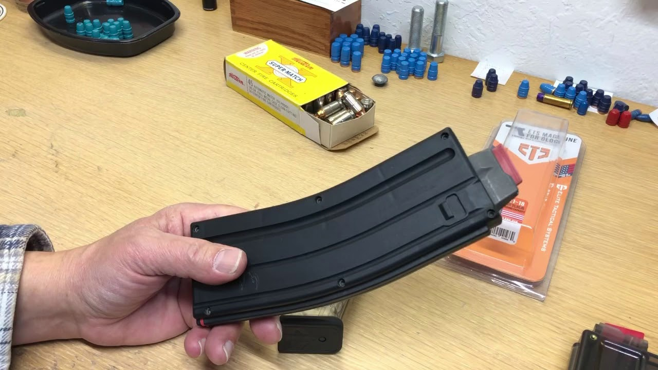 ETS 45 Glock magazine first impressions.