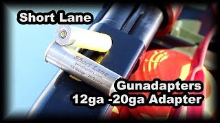 12ga to 20 ga Gunadapter vs clay birds