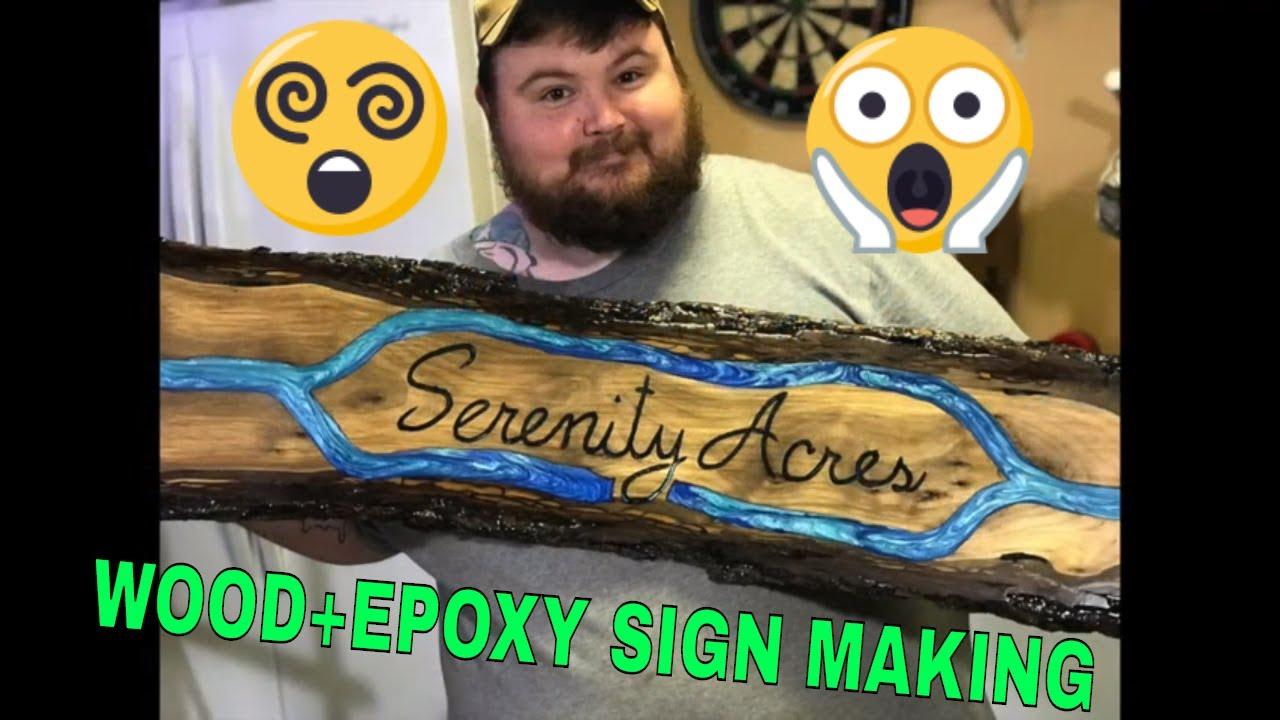 WOOD & EPOXY SIGN MAKING