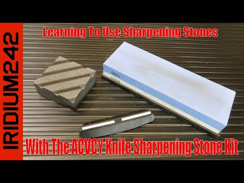 Learning To Use Stones With The ACVCY Knife Sharpening Kit