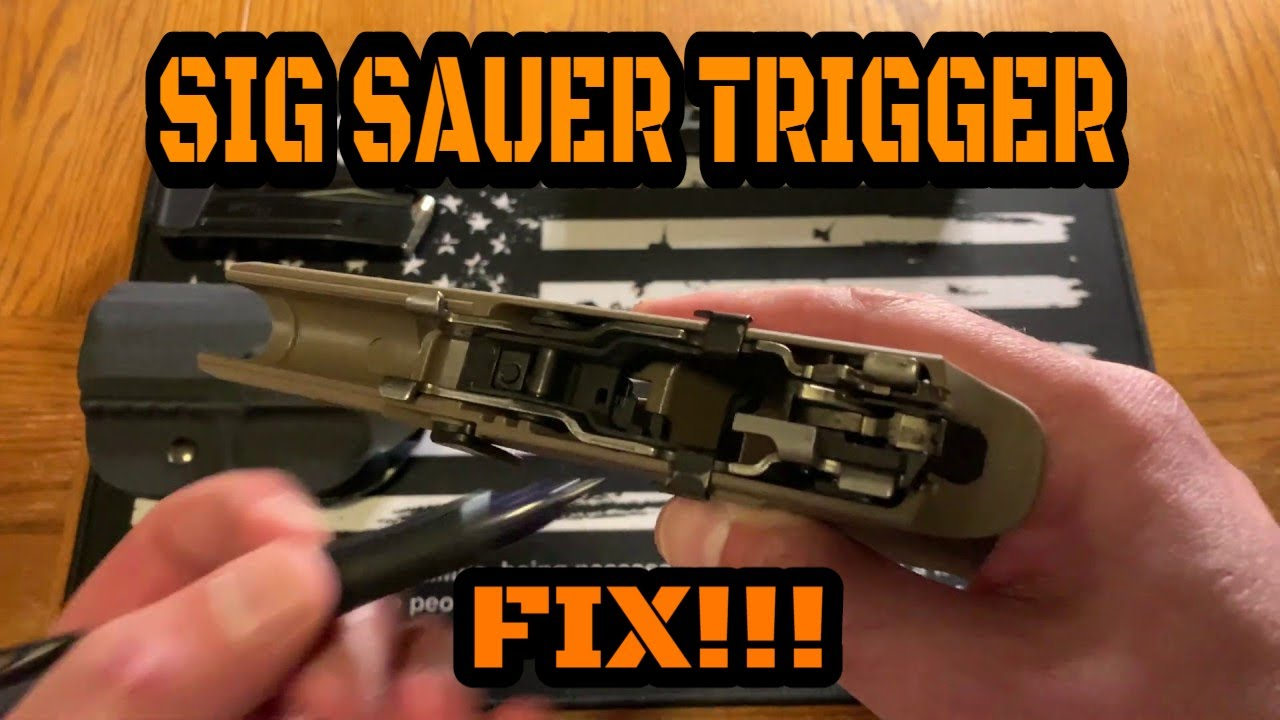 SIG P320 TRIGGER FIX: How did they fix the drop issue?