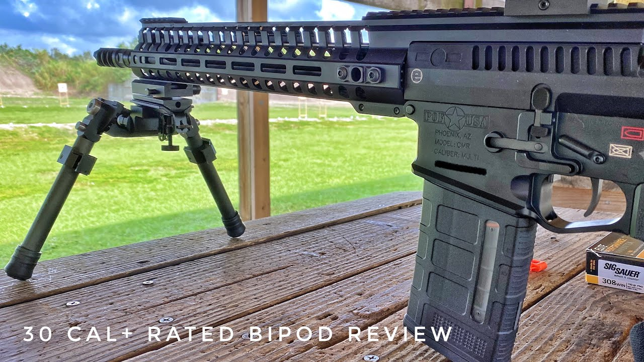 Heavy Duty 30 Cal+ Rated Bipod with 360 Degree Tracking (Review)