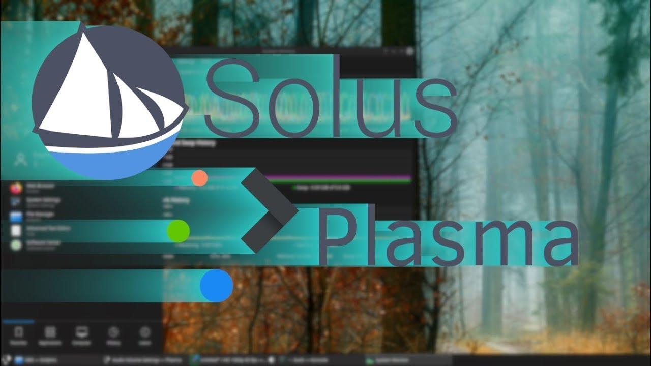 Solus 4.1 Plasma--Quick Look.
