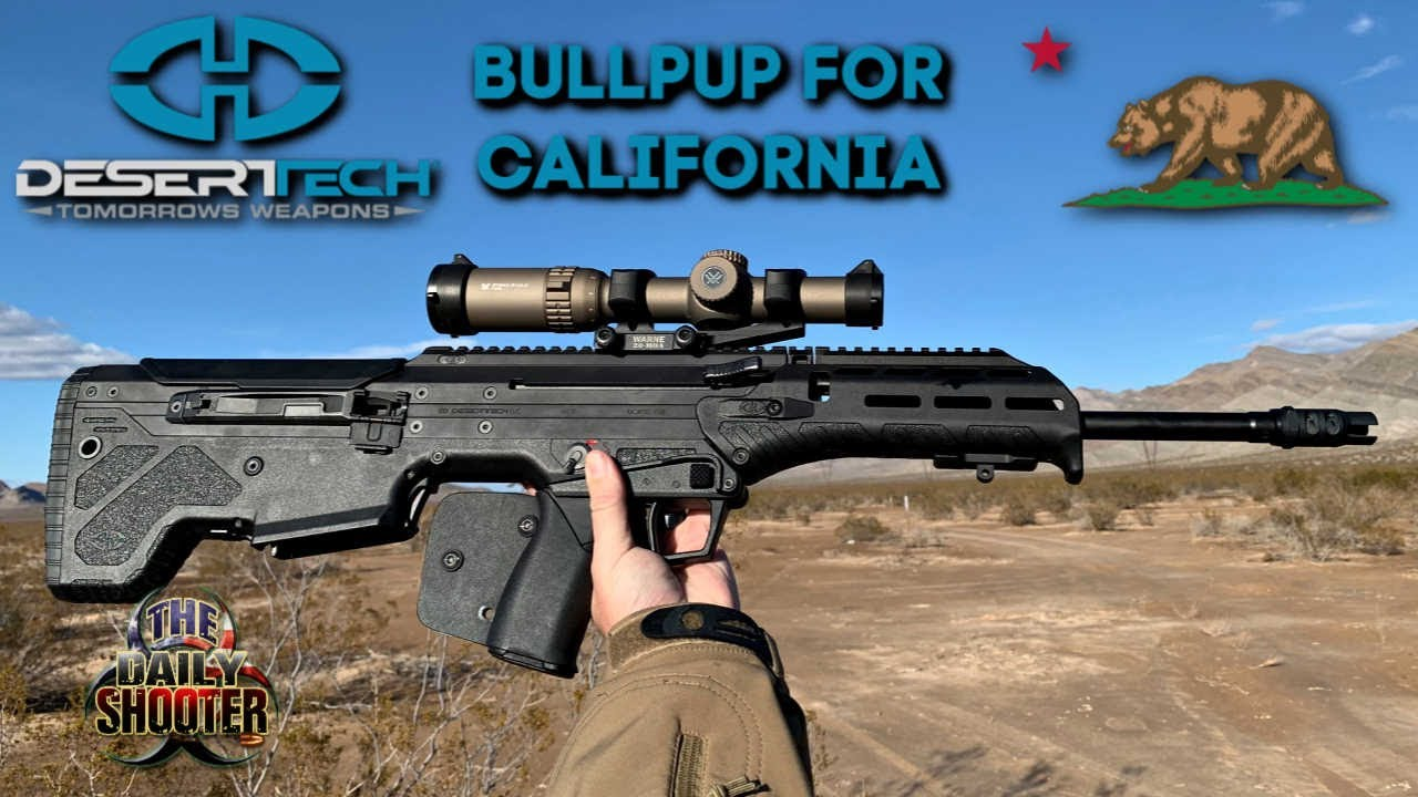 Bullpup For California! Desert Tech MDRX Review and Testing