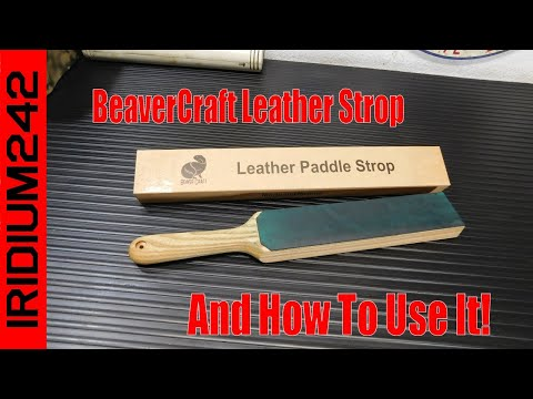 BeaverCraft Leather Paddle Honing Strop Kit