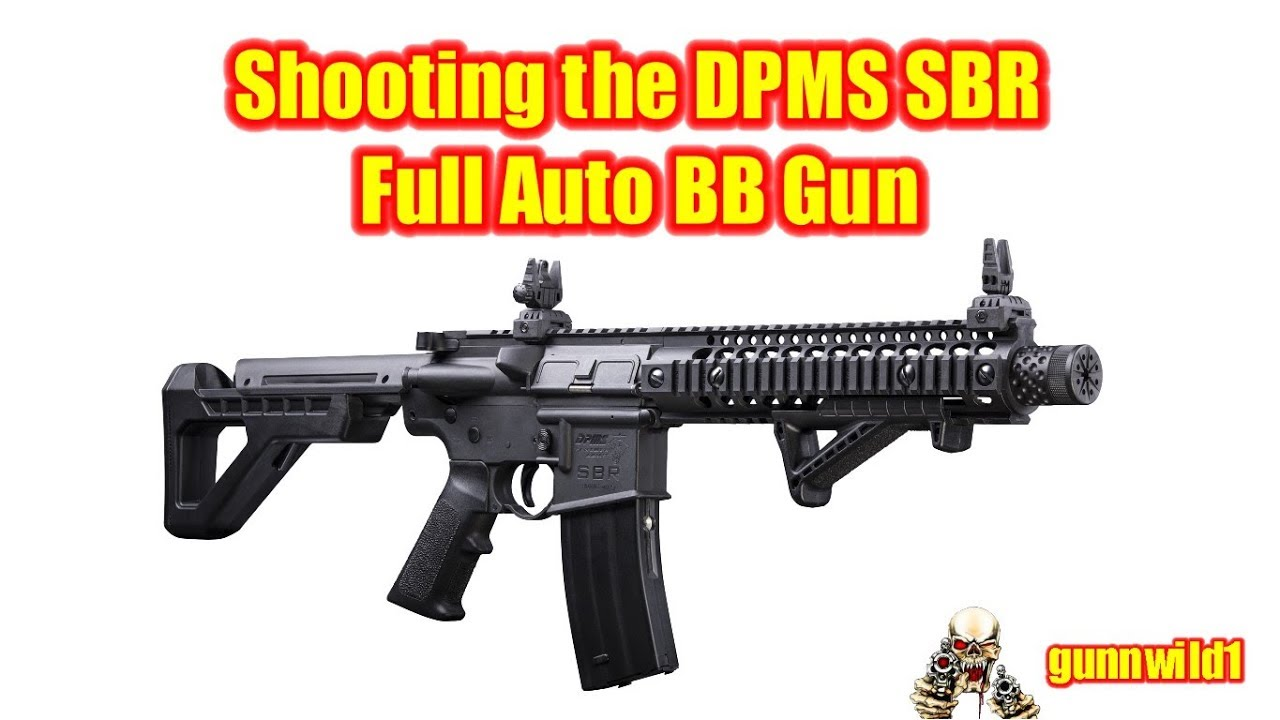 Shooting the DPMS SBR full auto BB gun