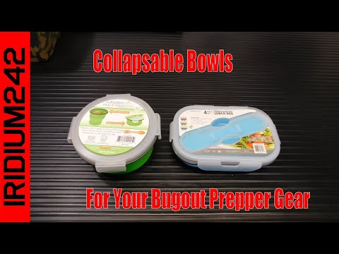 Collapsible Food Bowls For Your Bugout Prepper Gear!