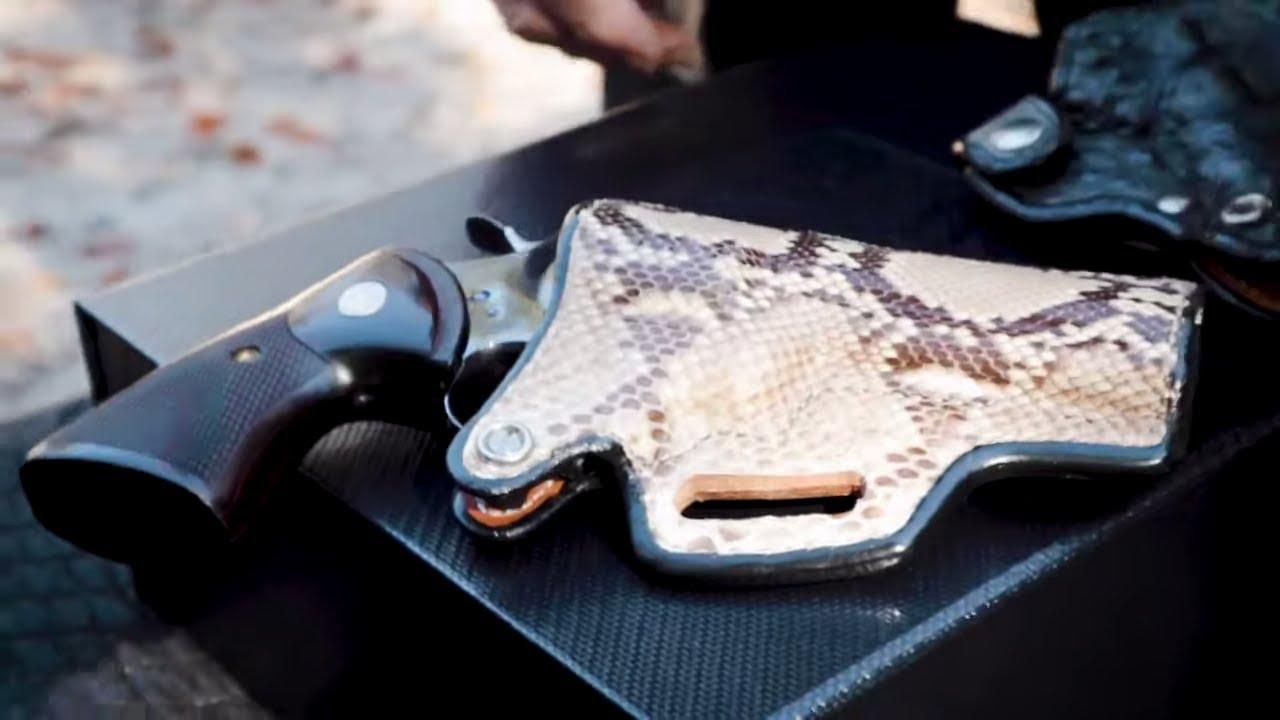 Andrews Custom Leather Colt Python & Cabot 1911 Holster