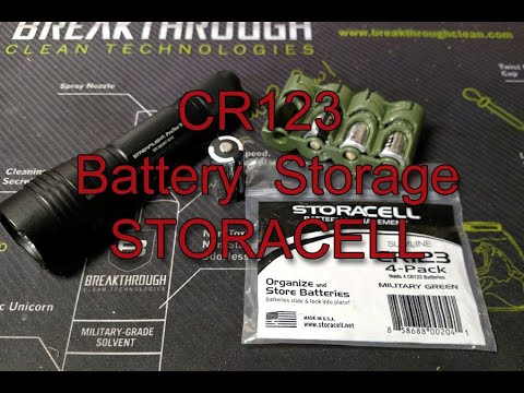STORACELL 123CR Battery Storage