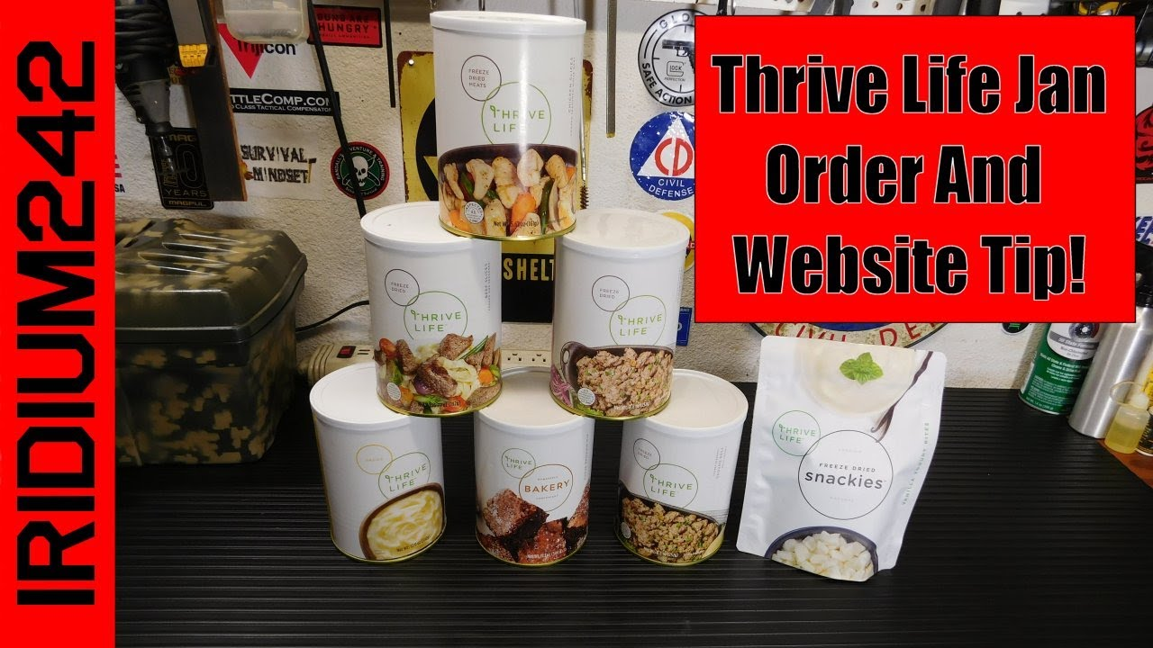 Thrive Life Jan Order And Website Tip!