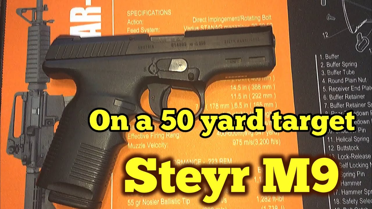 Steyr M9 at 50 yards