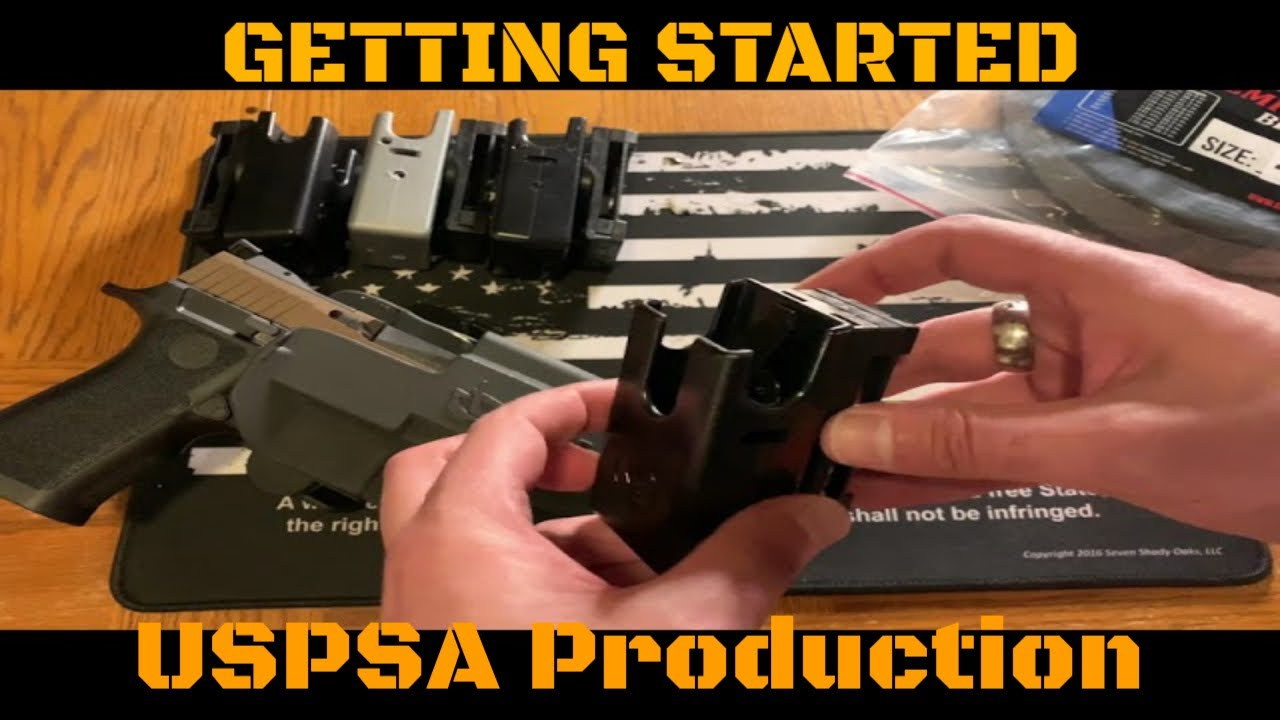 HOW TO:  Get started in USPSA Production, limited, etc...necessary gear!!