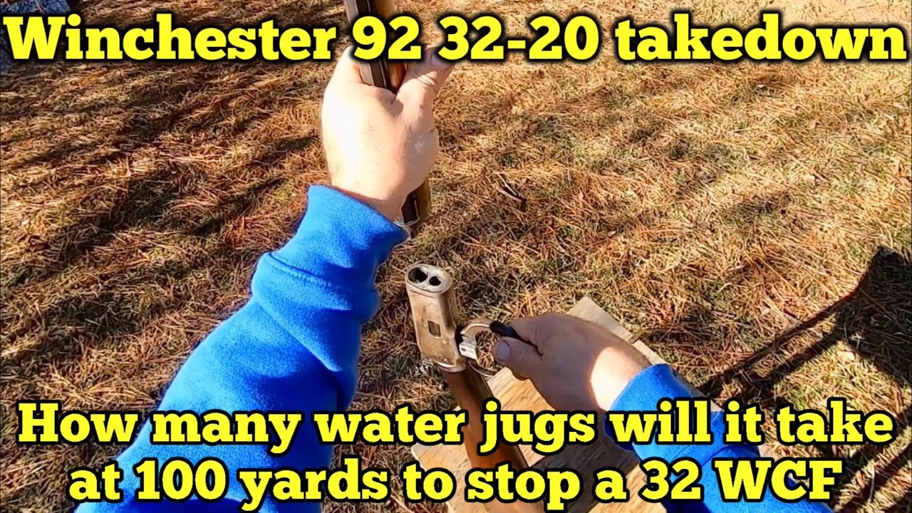 How many milk jugs will it take to stop a 32-20, 100 grain bullet