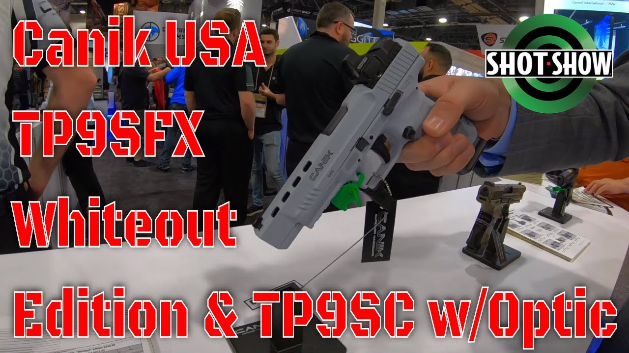 Canik TP9SFX Whiteout Edition TP9SC with Optic SHOT Show 2020