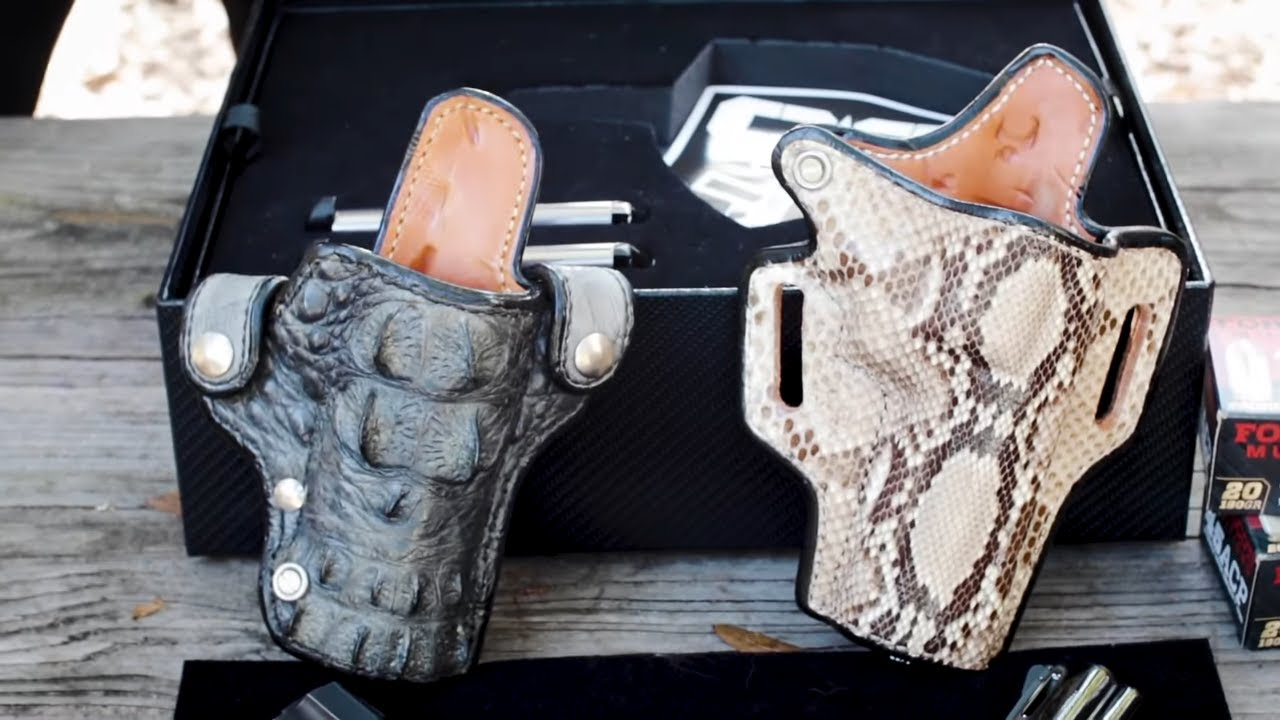 Andrews Custom Leather Colt Python & Cabot 1911 Holsters
