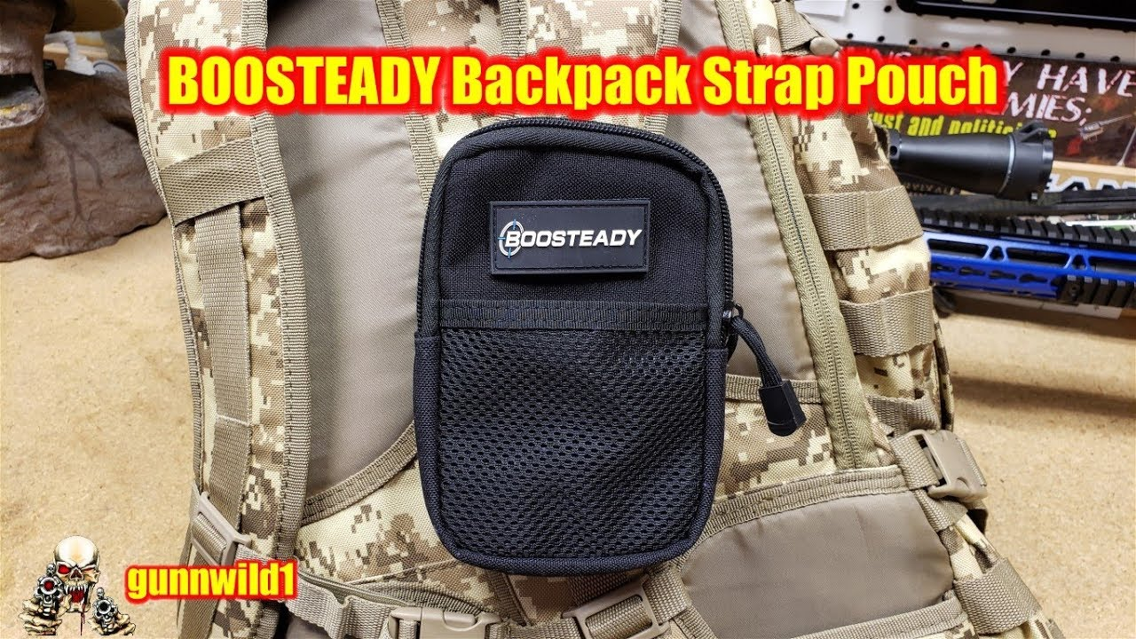 BOOSTEADY Backpack Strap Pouch