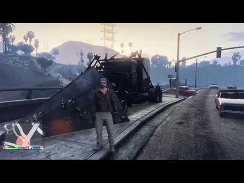GTA V. Plowing The Streets With The Phantom Wedge