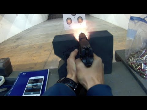 Shooting CZ P-07 with new camera, 1st person view. Thanks MiG (Measure in Grains)