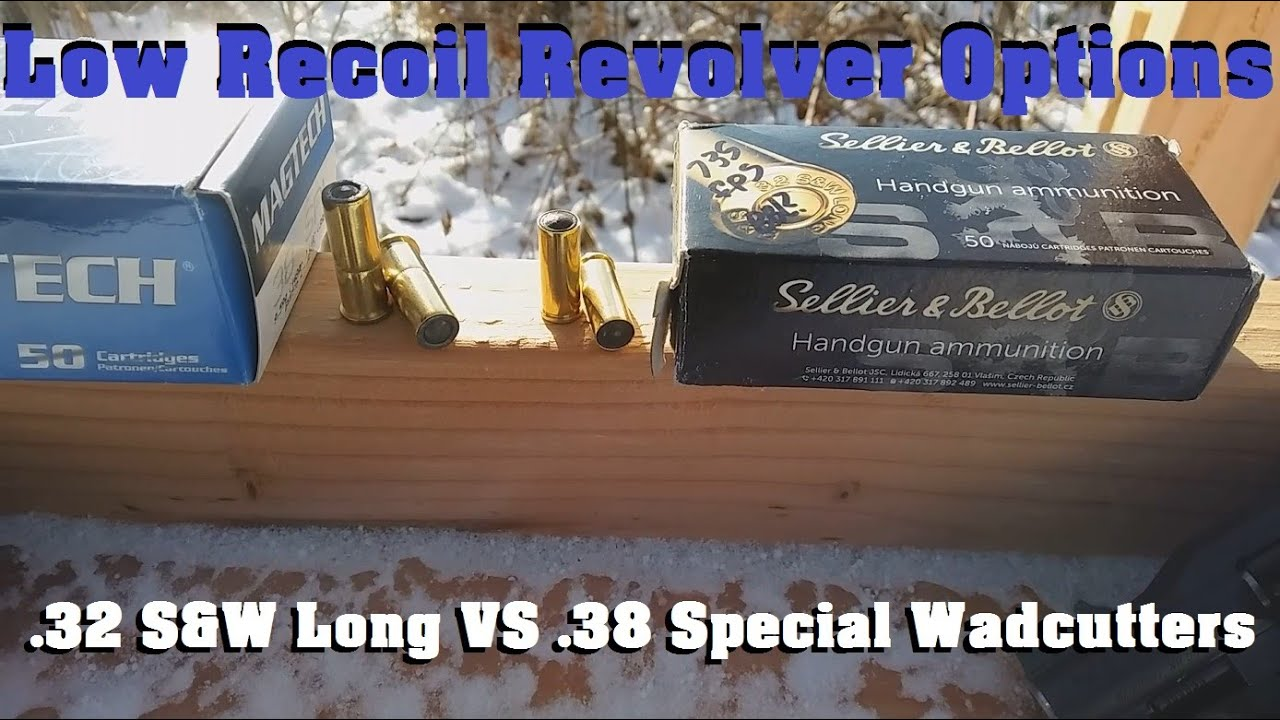 Low Recoil Revolver Options-.32 S&W Long VS .38 Special Wadcutters