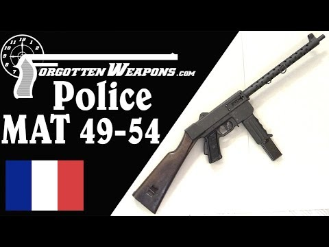 MAT 49-54 Police Submachine Gun