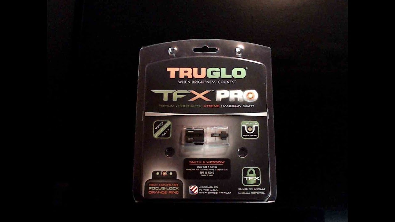 TRUGLO TFX PRO Sights Review