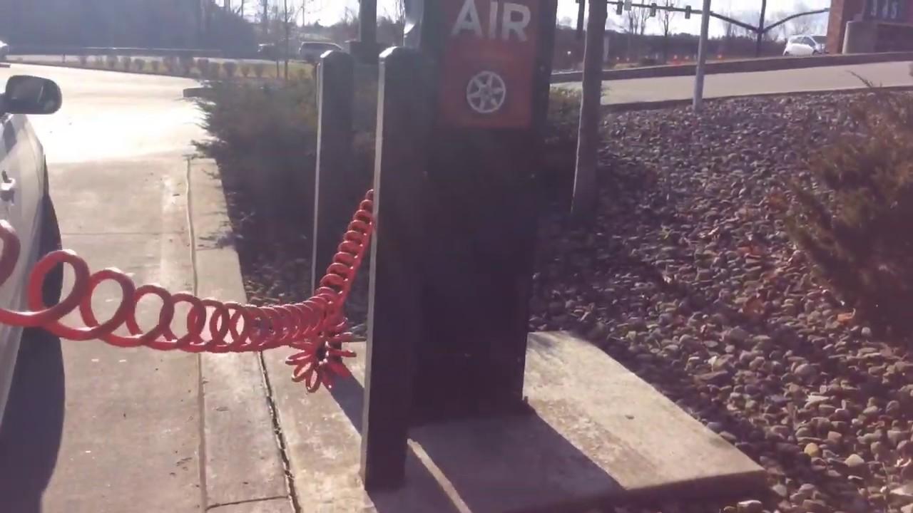 Frozen gas station air compressor hack