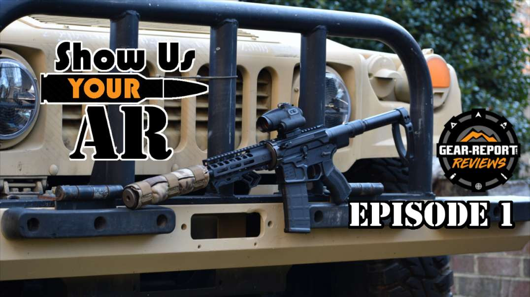 Show Us YOUR AR Episode 1 - takedown, folding, side charge, suppressed AR pistol
