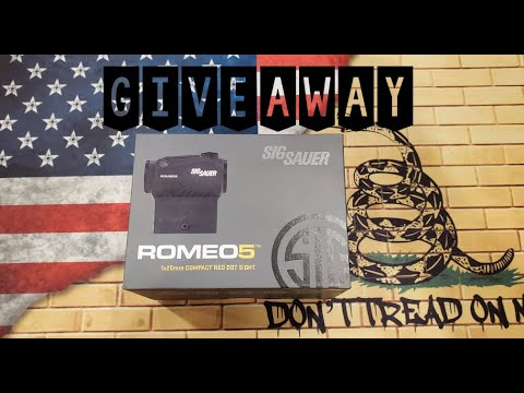 Sig Sauer Romeo 5 Giveaway | We Passed 2k Followers Thank You!