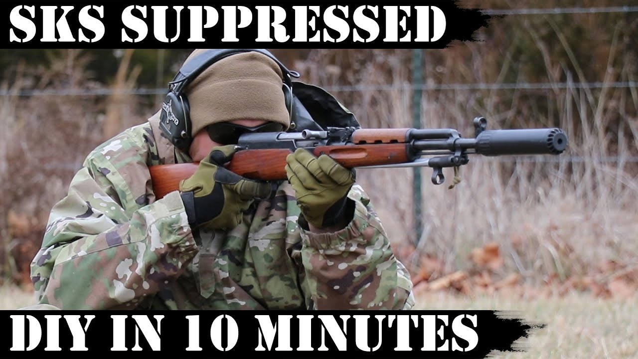 SKS Suppressed - Do it yourself in 10 minutes!