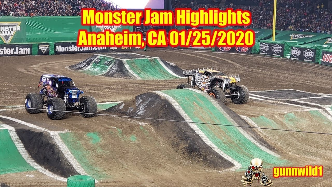 Monster Jam Highlights Anaheim Jan  25, 2020