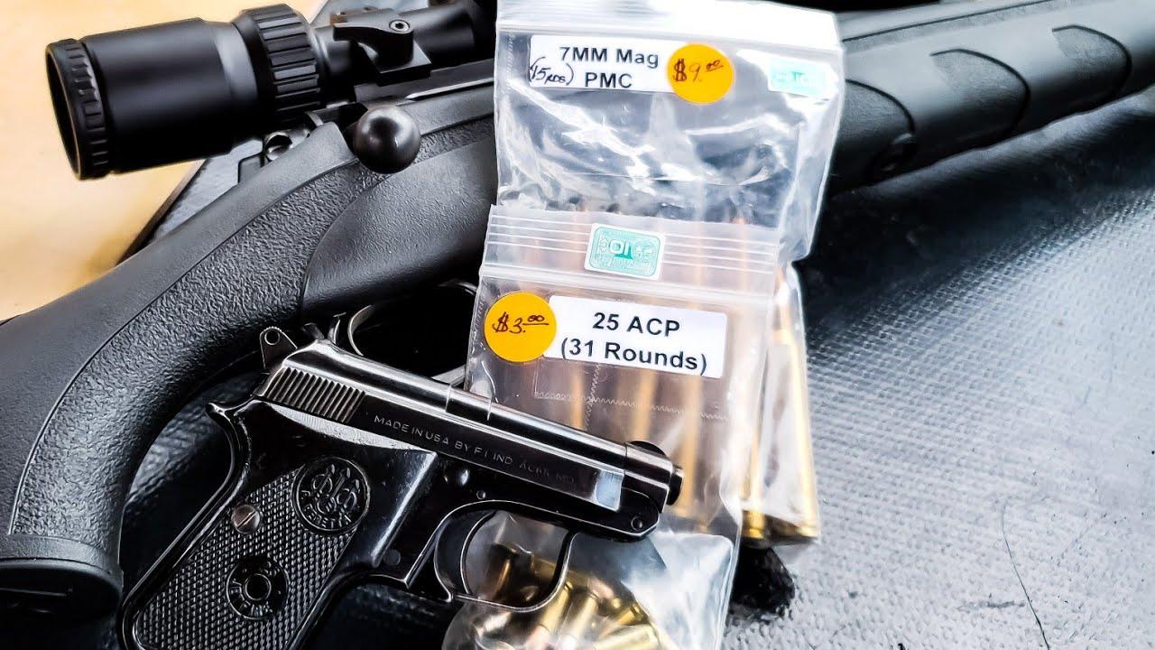 Firing Gun Show Reloads - 7mm Rem Mag & 25acp
