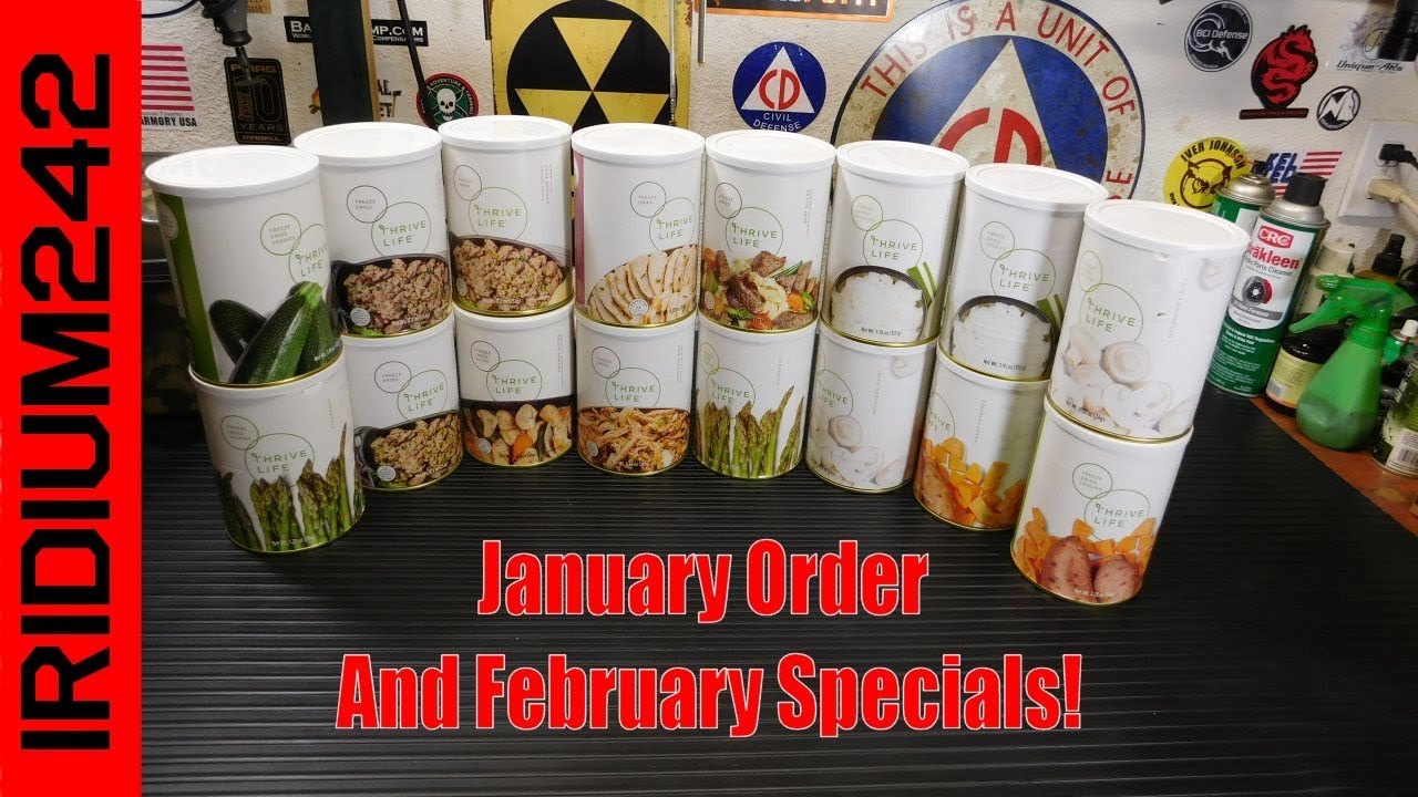 January Thrive Life Order And February Specials!