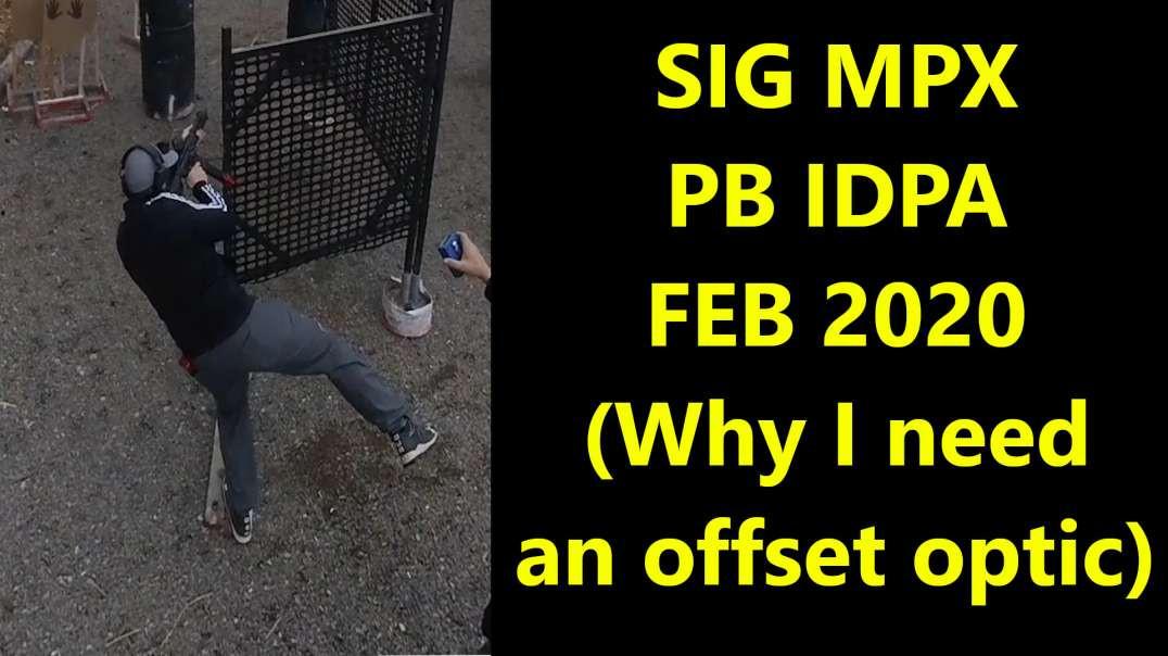 SIG MPX - PB IDPA - FEB 2020