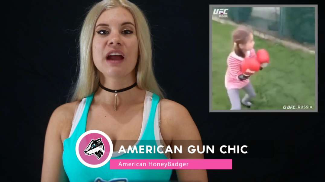 Russian HoneyBadger Cub Chest Kicks Her Brother & Goes Ground n' Pound!