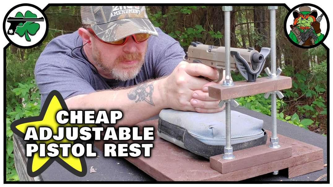 CHEAP Do It Yourself DIY Adjustable Handgun Rest