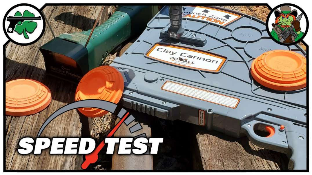 Sporting Clay SPEED TEST With the Clay Cannon