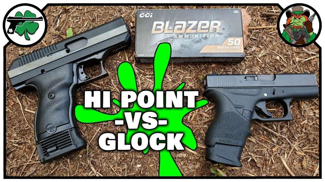Hi Point CF380 -VS- Glock 42 ACCURACY Battle With Chrono Test