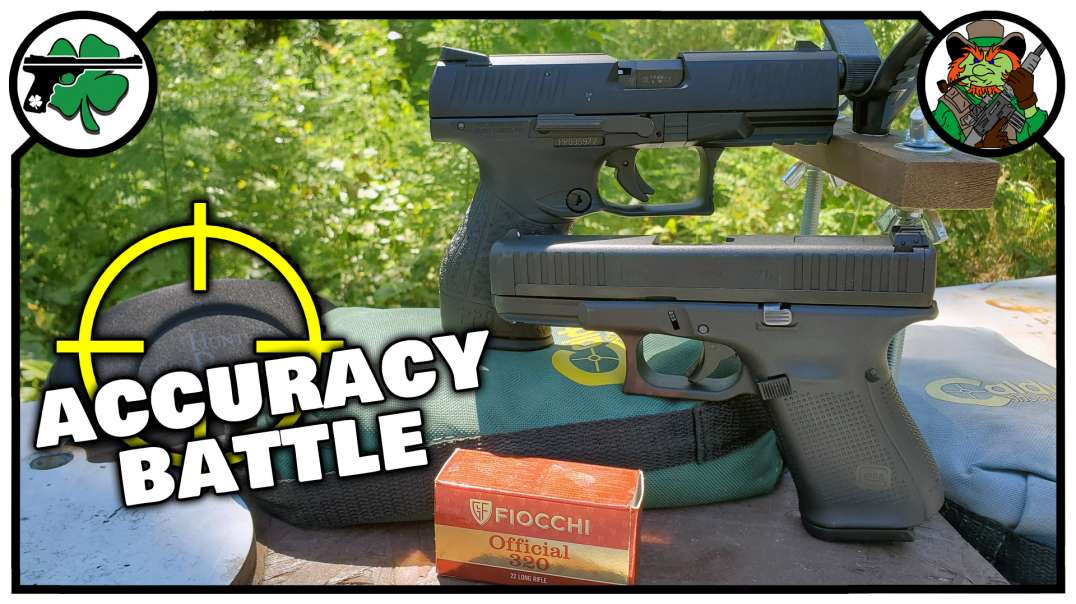 Glock 44 -VS- Walther PPQ 22 ACCURACY BATTLE &- Chronograph Testing