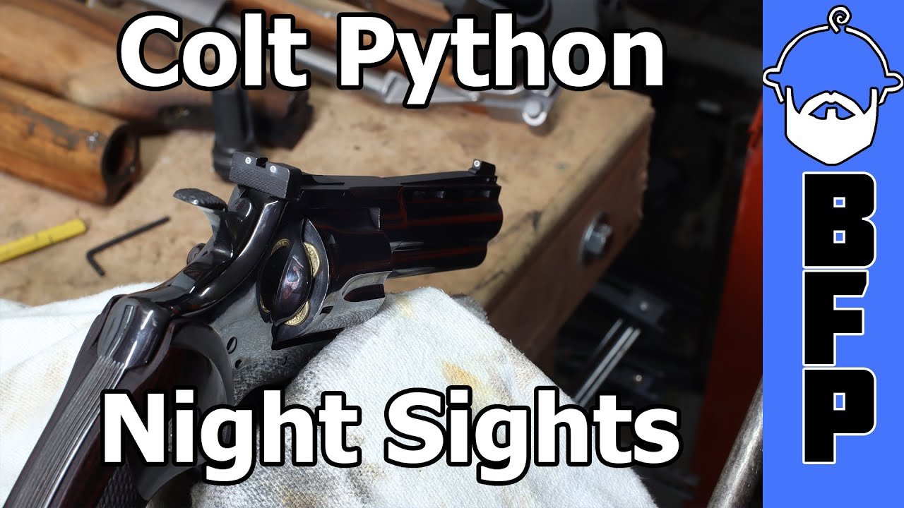 Colt Python Night Sight Install