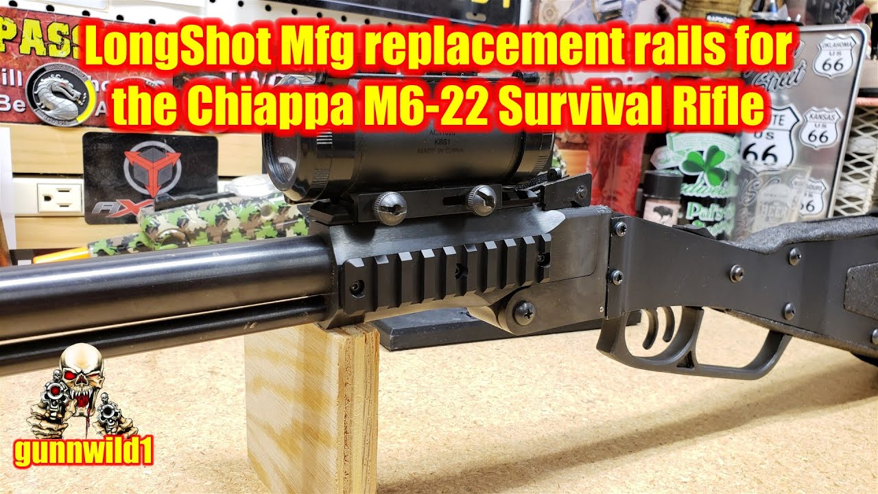 LongShot Mfg replacement rails for the Chiappa M6-22 Survival Rifle
