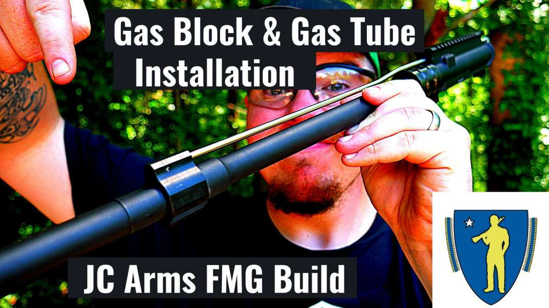 Gas Block & Gas Tube Install JC Arms Fixed Mag AR15!!!!!!